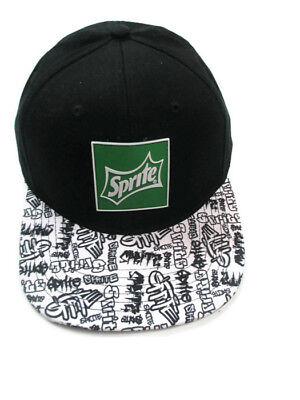Sprite Graffiti Baseball Cap Hat Black And White Irish Green Rubber Sprite Patch