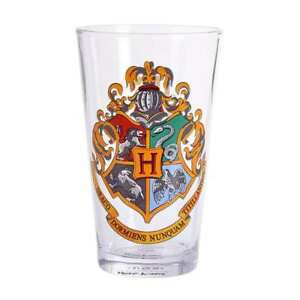 OFFICIAL HARRY POTTER HOGWARTS CREST PINT DRINKING GLASS NEW IN GIFT BOX