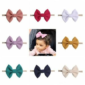Head Wraps Elastic Turban Girls Baby Big Bow Headband Nylon Hairband Knotted