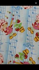 Strawberry Shortcake Vintage Fabric New Cotton Sewing Quilt By The Yard