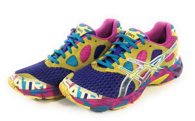 womens asics gel noosa tri 7 ASICS GEL Noosa Tri 7 Purple Yellow Athletic Running Shoes Womens ...