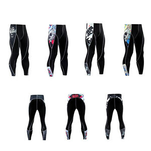 Men Compression Running Cycling Pants Fitness Workout Sports Quick Dry Tights