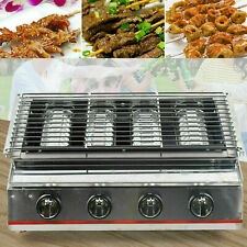 Lpg Gas Grill Smokeless Bbq Griddle Plate Barbecue Cooker Outdoor Bbq 4 Burners