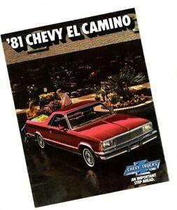 1981-Chevy-EL-CAMINO-Brochure-w-Color-Chart-Conquista-Super-Sport-Royal-Knight