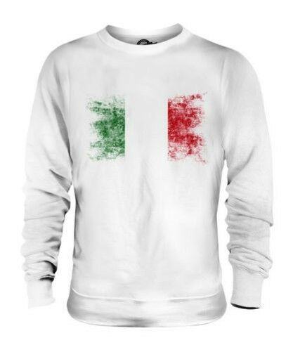 ITALY DISTRESSED FLAG UNISEX SWEATER TOP ITALIE FOOTBALL ITALIAN GIFT SHIRT