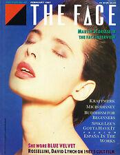 THE FACE #82 February 1987 ISABELLA ROSSELLINI David Lynch KRAFTWERK @EXCLT@