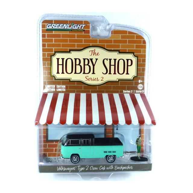 Greenlight 97020 VW Tipo 2 T2 Bus Verde Claro / Negro - The Hobby Tienda 1:64