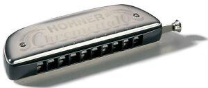 Hohner-Chrometta-10-C-40-Harmonica-Chromatische-Mundharmonika