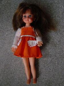Barbie Puppe 60 Er Jahre Puppe Tutti Mit Kleid Braune Haare