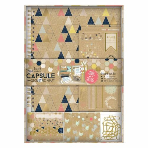 Papermania Geometric Paper Kraft Capsule Collection Scrapbook Set