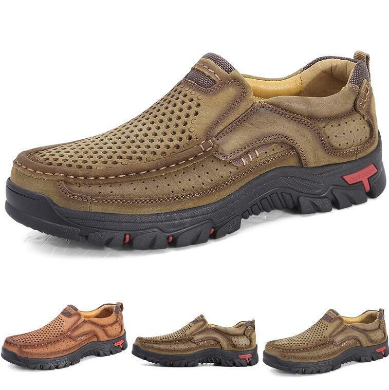 Men Outdoor Hire sautope da ginnastica sautope Pumps Breathable Soft Non-slip Slip on Leather Sautope classeiche da uomo