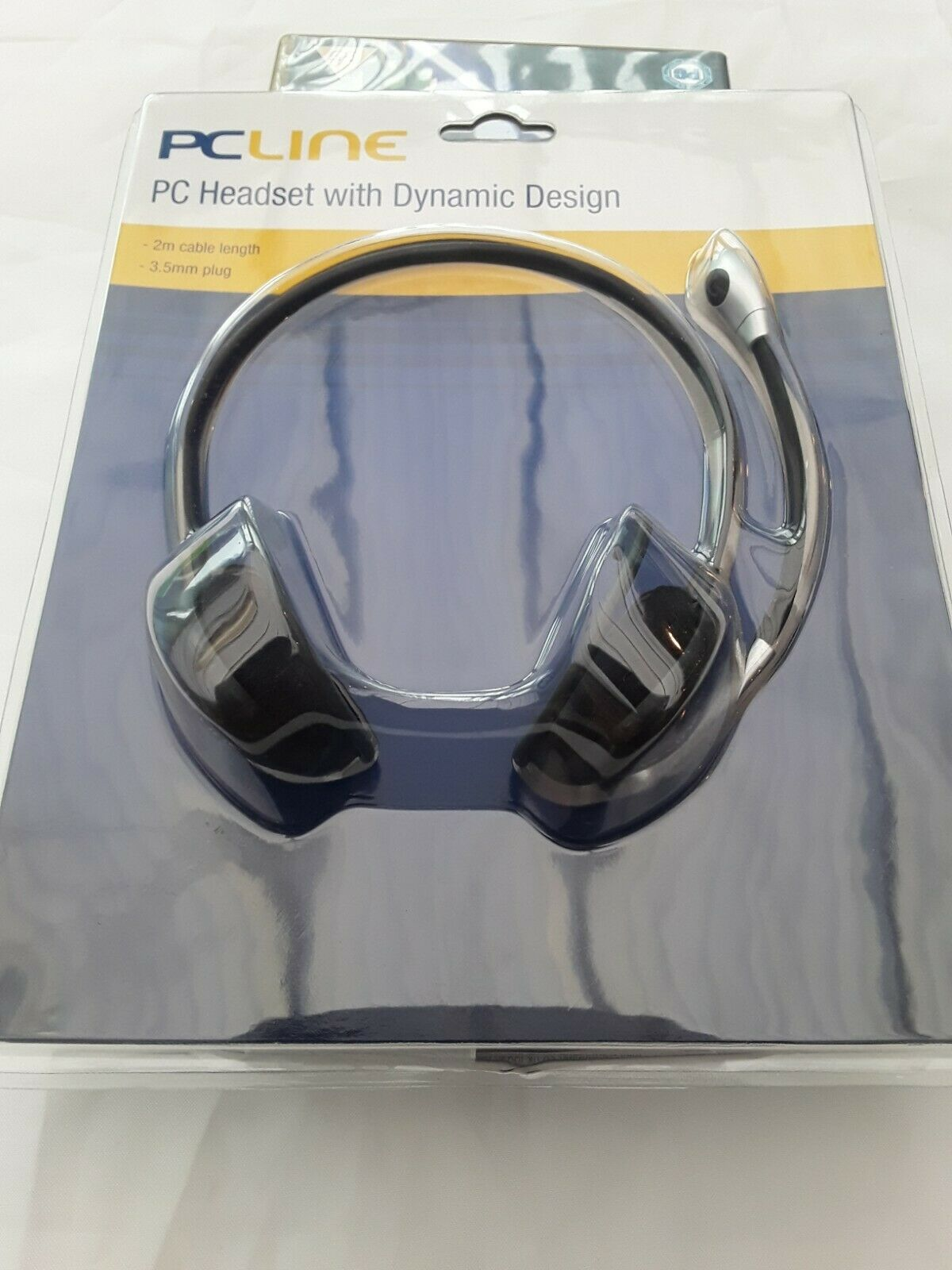 Pc Line Headset with mic 2m cable 3.5mm jack cheap a1 uk pc laptop brand new☆☆☆☆