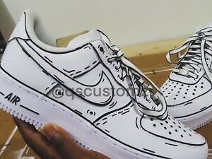 Nike Air Force 1 Custom Cartoon Design Any Size Made To Order