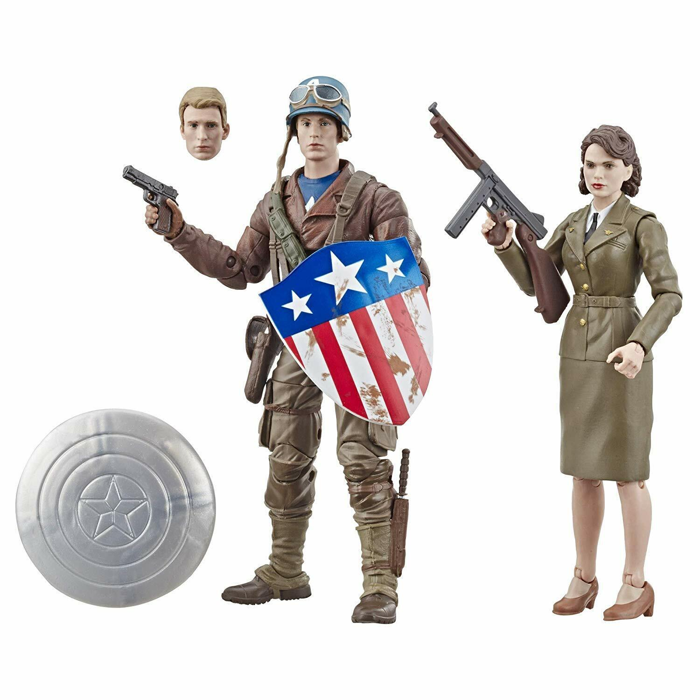 Marvel Leggende 6   Mcu 80 Anni Captain Captain Captain America Peggy autoter Primo Avenger 2 3ad76f