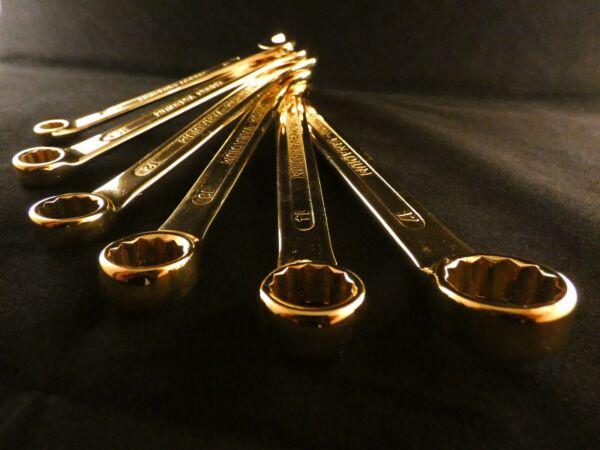 24 Karat Vergoldet Maulschlüssel Werkzeug Ringschlüssel Deluxe Gabelschlüssel Exquisite Traditionelle Stickkunst
