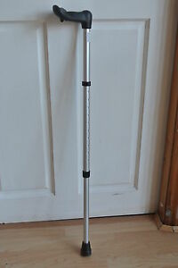 Nuromed-Right-Handed-Adjustable-Aluminium-Walking-Stick-Fischer-Handle-83-107cm