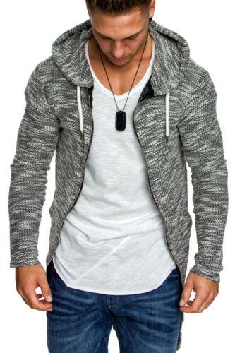 Herren Oversize Kapuzenpullover Zip Sweatshirt Hoodie Sweatjacke Pullover 4016