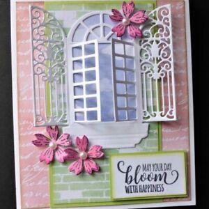 DIY Window Metal Cutting Dies Stencil Scrapbooking Embossing Card Album Craft