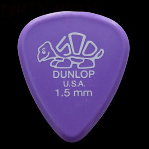 Dunlop Delrin Guitar Picks Plectrums 1.50mm Lavender - 1 2 3 4 5 6 10 12 20 24