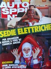 Autosprint n°9 1987 Johansson e Berger Ferrari  [P5]