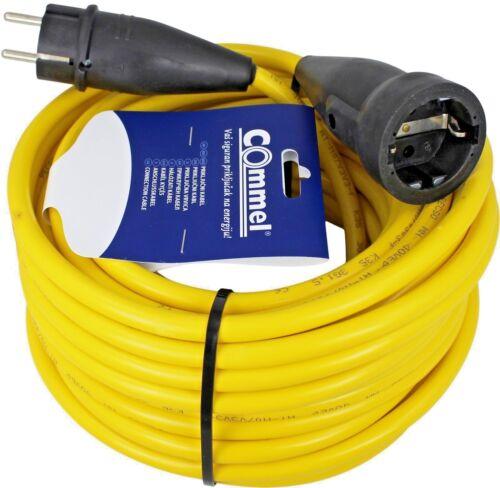 Verlängerungskabel 15 m Verlängerung Stromkabel AT-N07V3V3-F Gelb 3x2,5mm