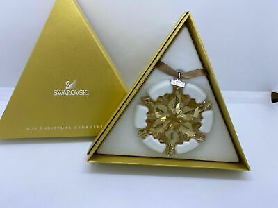 NIB Swarovski SCS Gold Large Annual Christmas Ornament ...
