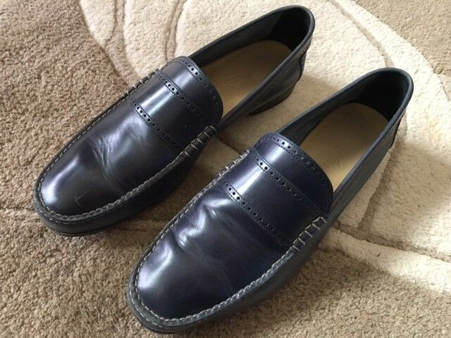 Hermes Authentic Loafers Navy blu Dimensione 42 Made in
