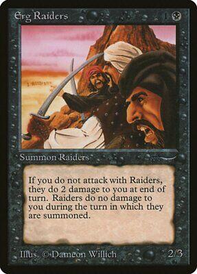 Erg Raiders a Dark Arabian Nights HEAVILY PLD Black Common MAGIC CARD ABUGames