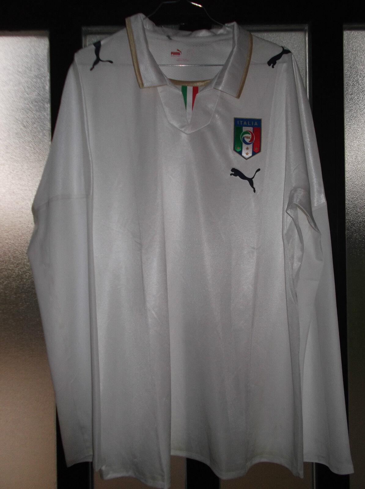 Maglia shirt italia nazionale italiana termosaldata puma senza nr e nome ottima