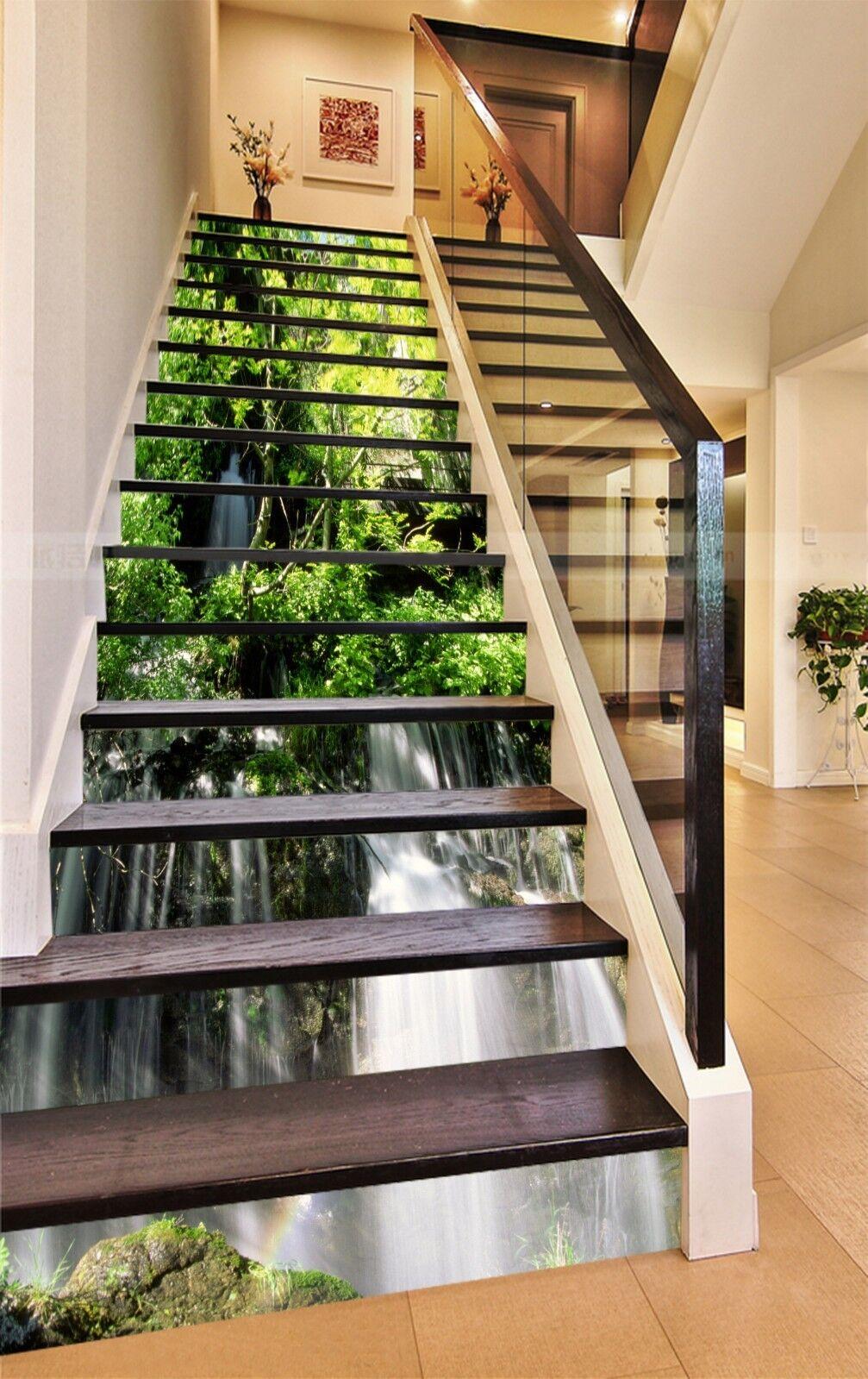 3d Cascade 1321 Stair Risers Décoration Papier Peint Vinyle Autocollant Papier Peint De