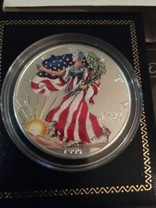 1999 1 Oz Painted Lady Liberty American Eagle Silver