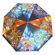 Bakugan Kids Umbrella Perletti Boys Brolly Rain Childrens Wind Resistant Blue