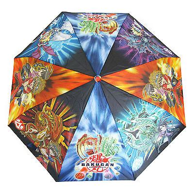 Bakugan Bambini Ombrello Perletti Ragazzi Pioggia Resistente Al Vento Blu