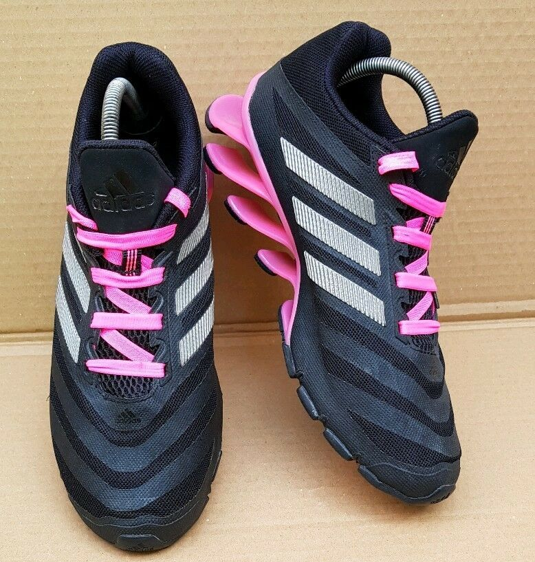 ADIDAS UK SPRINGBLADE TRAINERS SIZE 6.5 UK ADIDAS RARE IMMACULATE CONDITION BLACK AND PINK 5e3f4f