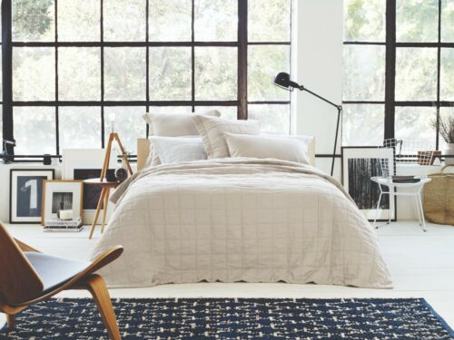 Sheridan Abbotson Belgian Linen Bed Cover Flax
