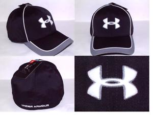Men s Under Armour UA Classic Fit 100% Polyester Stretch Fit Caps ... 53d81006e5b