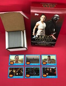 2019 Star Wars Journey To The Rise of Skywalker 110 Card Blue Set