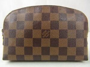 Us Seller Authentic Louis Vuitton Damier Cosmetic Pouch Bag Good Lv Ebay