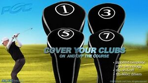 NEW-DRIVER-GOLF-CLUB-HEAD-COVERS-BLACK-HEADCOVER-FULL-COMPLETE-1-3-5-7-WOOD-SET