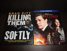 KILLING THEM SOFTLY Steelbook & ALLIED-2 BluRay movies-BRAD PITT, M Cotillard