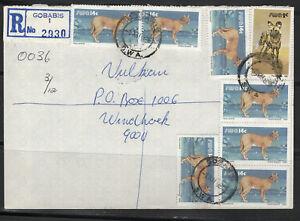South West Africa Cover Gobabis 01.12.1986 R 7 x Karakal Felis Caracal Wildhund - Münster, Deutschland - South West Africa Cover Gobabis 01.12.1986 R 7 x Karakal Felis Caracal Wildhund - Münster, Deutschland