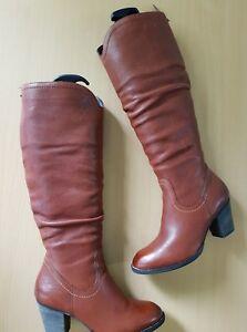 Boots Stiefeletten Stiefel Green Braun Leder Gr6 Damen Paul