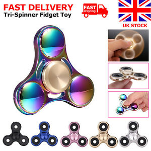 Tri-Fidget-Rainbow-Hand-Spinner-Gyro-Focus-Desk-EDC-Toys-Kids-Adults-ADHD