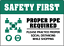 PROPER-PPE-REQUIRED-PRACTICE-SOCIAL-DISTANCING-Adhesive-Vinyl-Sign-Decal miniature 1