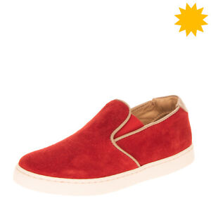 RRP-260-DOLCE-amp-GABBANA-Suede-Leather-Sneakers-EU-29-UK-11-US-12-Made-in-Italy