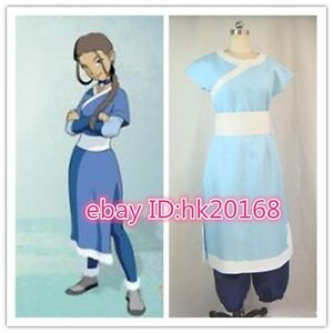 Image is loading Avatar-The-Last-Airbender-Katara-cosplay-costume-F- & Avatar The Last Airbender Katara cosplay costume #F.014   eBay