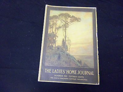 1912 OCTOBER LADIES' HOME JOURNAL MAGAZINE - GREAT ILLUSTRATIONS & ADS - ST 1728