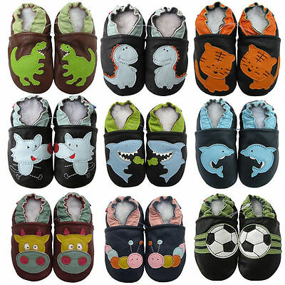 carozoo UK new leather soft sole baby shoes/slippers prewalker up to 8 YRS boots