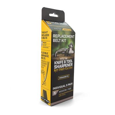 5 Pack WSSAKO81119 X22 Medium Grit Work Sharp Belts for Ken Onion Sharpener