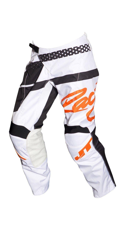 MX Gear-JT Racing USA Flex Hi-Lo Pants White//Orange//Black